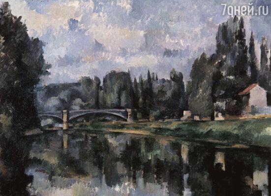 В тот день двадцатитрехлетний Амбруаз впервые увидел «Берега Марны».  Картина стояла в витрине крошечной полутемной лавки, где торговали красками. Репродукция 1888 г.