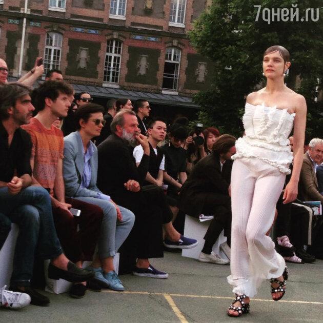 Наталья Водянова на показе Givenchy
