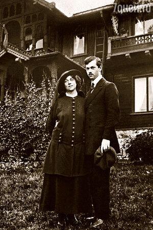 Александра Михайловна Коллонтай с сыном Михаилом.
