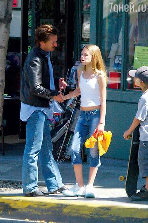 Шон Пенн с дочерью Дилан Фрэнсис и сыном Хоппером Джеком
