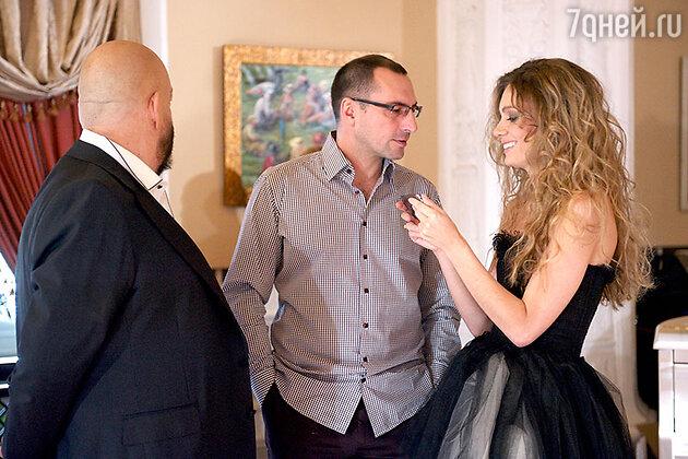 Игорь Вдовин с женой Варей Демидовой и Михаилом Шуфутинским