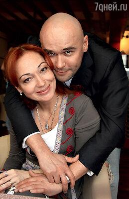 С Максимом Авериным, партнером по сериалу «Глухарь»
