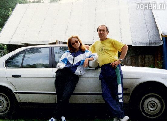 На даче с папой, ЮриемЕгоровичем. 1996 г.