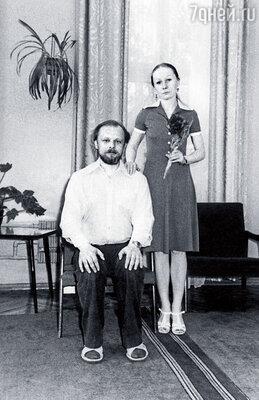 Мама и Женя Козловский в день их свадьбы