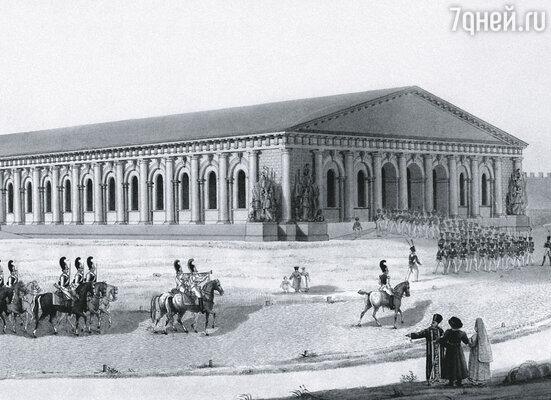 Под началом Августина Бетанкура в 1817 году был построен московский Манеж. Архитектор спроектировал гигантские деревянные стропила без промежуточных опор, перекрывающие 45-метровые пролеты. Аналогов этому решению в мире еще не было...