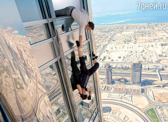 Когда Джереми Реннер лишь свесился из окна небоскреба, его накрыла... волна дурноты