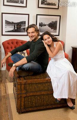 Александр Лазарев с женой Алиной