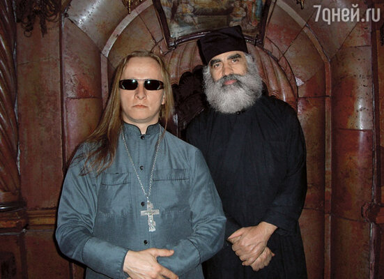 Иван с хранителем Гроба Господня. Иерусалим
