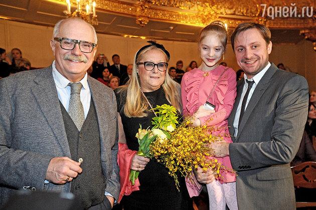Никита, Татьяна, Артем и Наташа Михалковы