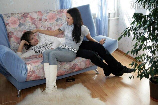 Вадим Галыгин с женой Дарьей