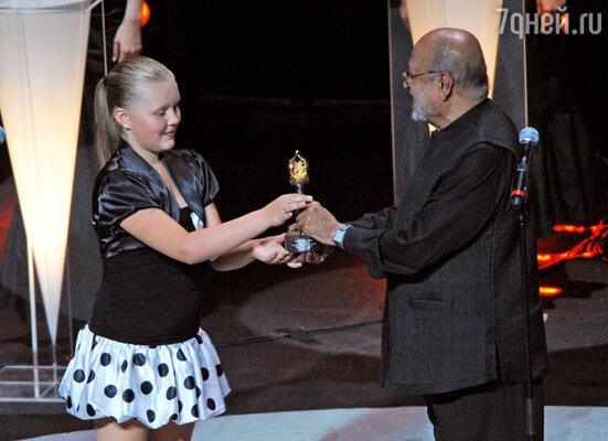 Юная актриса Лена Костюк получила приз в номинации «Лучшая женская роль»