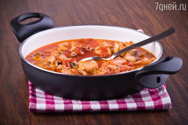 Томатный суп с тунцом