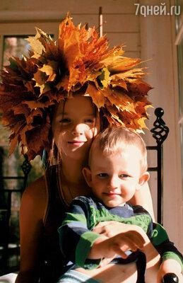 Мои дети Дуня и Миша