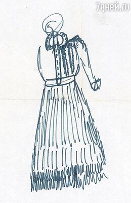 Платье, которое я сшила по эскизам Людмилы Марковны