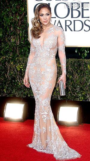 Дженнифер Лопес на красной дорожке премии «Золотой глобус»