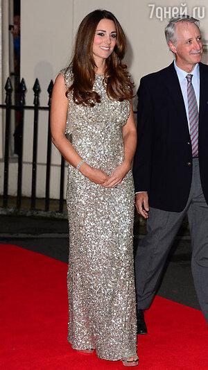 Герцогиня Кембриджская Кэтрин  на гала-ужине, британской благотворительной организации