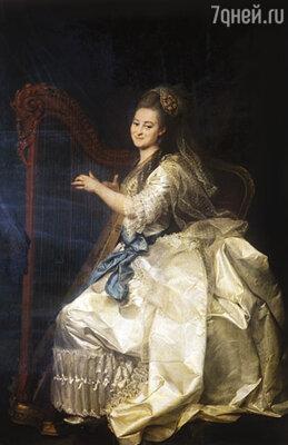 У одной из первых смолянок, Глафиры Алымовой, обнаружился невероятный талант к музыке. Репродукция картины «Портрет Г.И. Алымовой» работы Д.Г. Левицкого, 1776 г. Государственный Русский музей