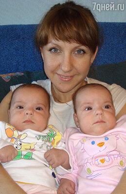 Третье место. Елена Савосина с дочерьми Катей и Настей