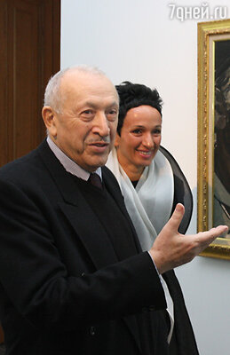 Таир Салахов с дочерью художницей Айдан Салаховой