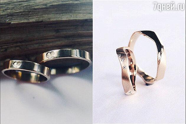 Оригинальные кольца для молодожен