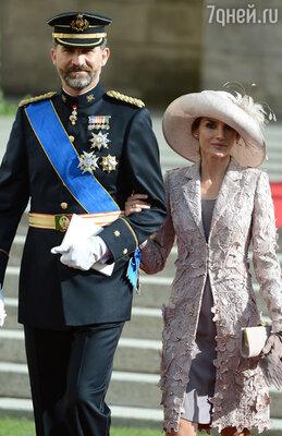Кронпринц Испании Фелипе с супругой кронпринцессой Летицией