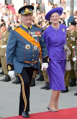 Королева Дании Маргрете с супругом принцем-консортом Хенриком