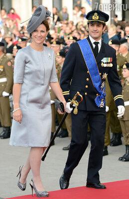 Принцесса Норвегии Марта-Луиза и принц Швеции Карл-Филипп