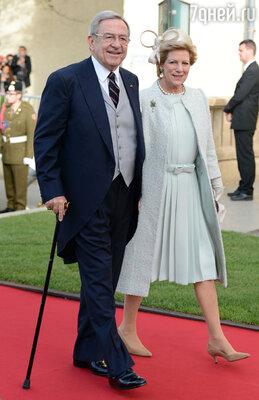 Экс-король Греции Константин с супругой экс-королевой Анной Марией