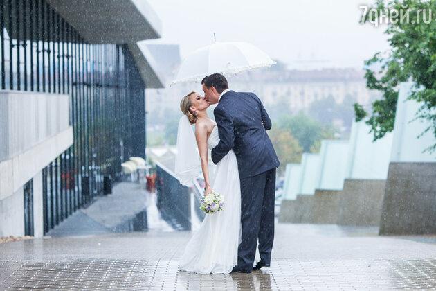 Свадьба, дождь