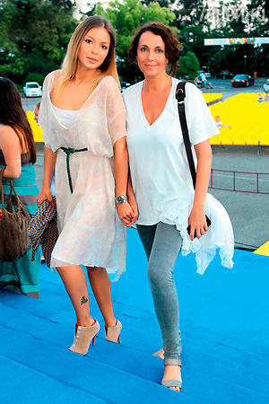 Татьяна Лютаева с дочерью Агнией Дитковските. 2011 г.