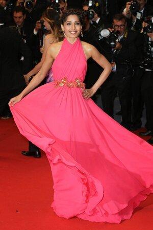 Фрида Пинто в платье от Gucci на Каннском кинофестивале в 2013 году