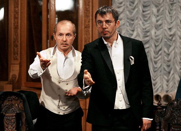 Андрей Панин с Игорем Петренко всериале «Шерлок Холмс», работа надкоторым еще незакончена