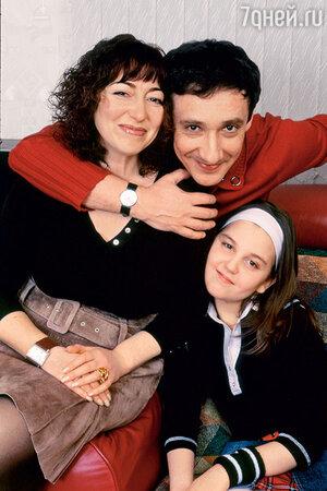 Евгений Хавтан с женой Мариной и дочкой Полиной
