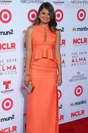 Мелони Диаз в платье J. Mendel  на церемонии NCLA ALMA Awards 2013