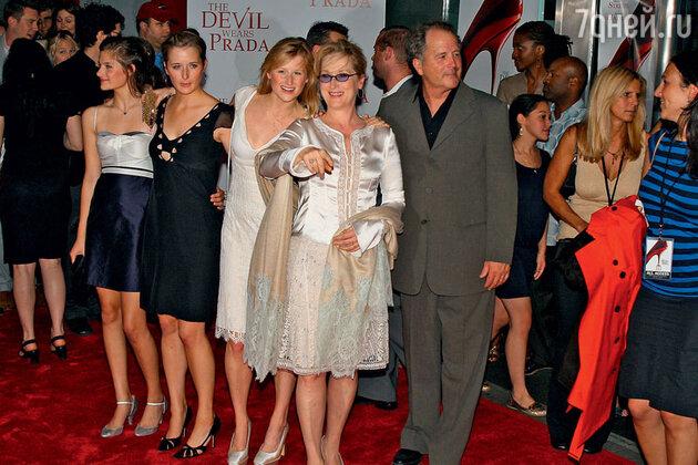 Мэрил Стрип с мужем Доном Гаммером и тремя дочками
