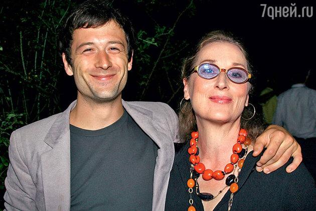Мэрил Стрип с  сыном Генри