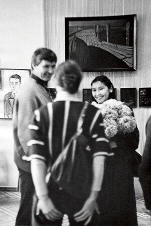 Николай Двигубский и Наталья Аринбасарова  на выставке в Тбилиси