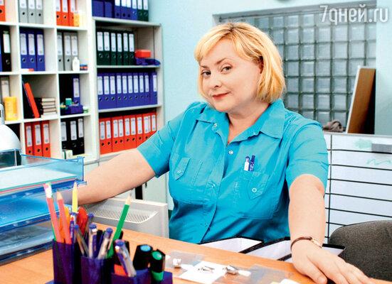 Светлана Пермякова в роли медсестры Любы в сериале «Интерны». 2010 г.