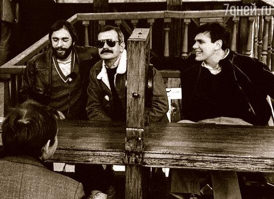 На съемках телепередачи: композитор Эдуард Артемьев, Никита и я