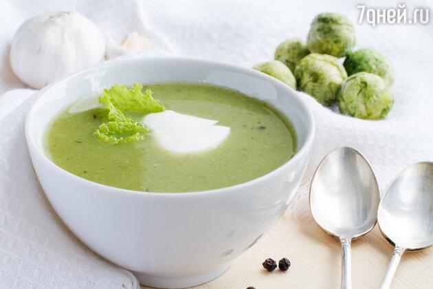 Суп-пюре из брюссельской капусты