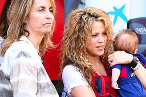 Шакира пришла на футбол с двухмесячным сыном