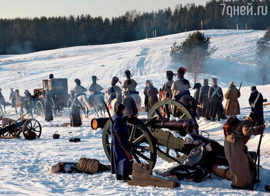 Батальные сцены снимали на территории модного лыжного курорта под Санкт-Петербургом