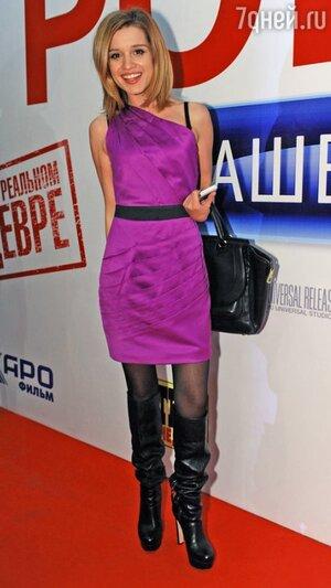 Ксения Бородина на премьерном показе фильма «Служебный роман. Наше время» в 2011 году