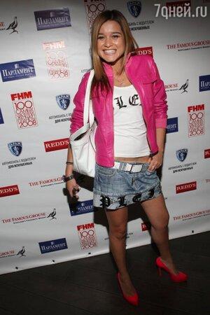 Ксения Бородина на церемонии «Top 100 Sexy» по версии журнала FHM в 2008 году