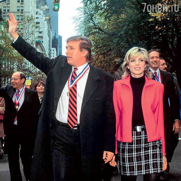 Дональд Трамп со своей второй женой — американской актрисой Марлой Мейплз