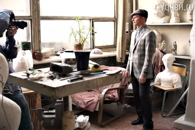 Андрей Аршавин на съемках для журнала «Наш «Зенит»