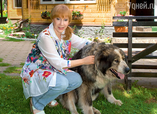 С любимой кавказской овчаркой Редди