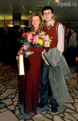 С братом Александром. 2005 г.