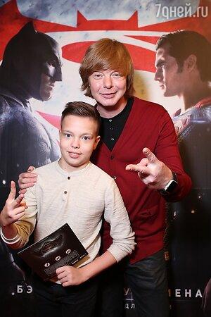 Андрей Григорьев-Аполлонов с сыном Ваней