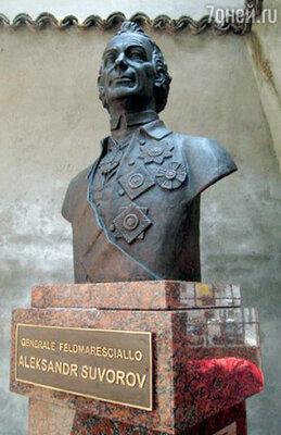 Памятник Суворову, открытый в мае 2011 года витальянском Ломелло